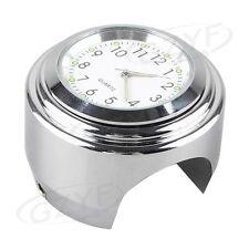 """Mini Motorcycle Digital Clock Time Gauge Motorbike Handbar Mount 7/8"""" Waterproof"""