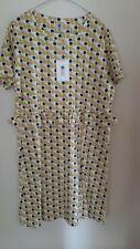 ORLA KELY Poppy Cat Jersey T-Shirt Frill Dress-Dandelion Size M