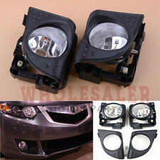 2x For 2009 2010 Acura TSX L+R Fog Driving Light Lamp without Bulbs 2.4 3.5L