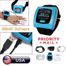 Wrist Finger Pulse Oximeter Sleep Study SpO2 Blood Oxygen Heart Rate Monitor USB