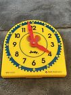 Judy Instructo Mini-Clock Teaching Learning Plastic Clock Telling Time-NOS