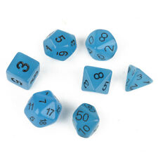 7pc Blue Glow in the Dark Luminous dice set D&D D20 RPG TSR polyhedral
