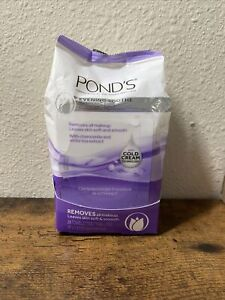 Pond's 28 Ct Wet Towelettes Wipes Chamomile White Tea Makeup Remover Exp.05/22 +