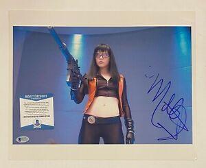 Milla Jovovich Signed 11x14 Photo Autograph Beckett BAS COA AUTO