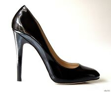 new $625 JIMMY CHOO 'Victoria' black patent leather shoes 39.5 9.5 - classic