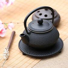 600ml Black Hobnail Tetsubin Kettle Cast Iron Tea pot with Infuser Filter TP163