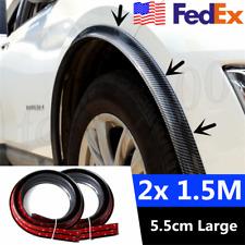 "USA 2x 59"" Car SUV Fender Moulding Strip Rubber Wheel Flares Carbon Fiber Style"