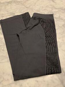 lululemon 6 Wide Leg Animal Print Drawstring Waist Pant Grey/black