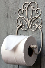 Vintage style Wall Mounting Shabby Chic Bathroom Toilet Roll Holder Cream Ivory