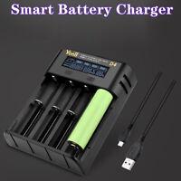 Chargeur de batterie intelligent LCD USB 4 emplacements pour 18650 21700 2665MFU