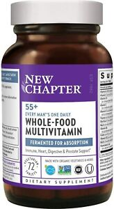 New Chapter Multivitamin for Men Every Man's One Daily 55+  72 Tablets Exp.8/22