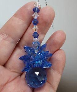 20mm Blue Crystal Ball Cluster Suncatcher made with Swarovski Sapphire