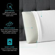 Beautyrest Latex Foam Pillow with Removable Cover, 3 sizes - Free shipping