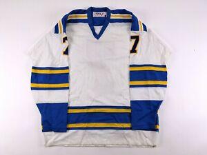1978 St. Louis Blues Prototype #7 Blank Hockey Jersey No Logo No Name Plate