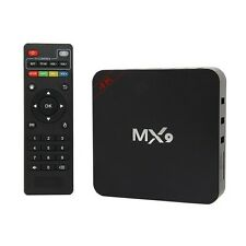 MX9 4K 1080P Smart TV BOX XBMC/Kodi H.265 Android Quad Core WiFi 8GB Mini PC NEW