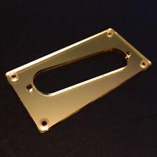 Guitar Parts CONVERSION PICKUP RING Humbucker Single Coil - SLANT GOLD MIRROR
