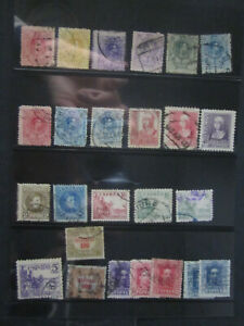 card SPAIN old stamps used