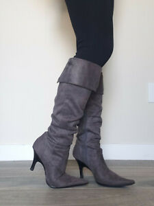 Bakers - Grey Suede Knee High Boots - Size 6