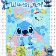 """Soft Silky Flannel Blanket 79""""x59"""" Cartoon Lilo Stitch Plush Throw Fancy Gift A+"""