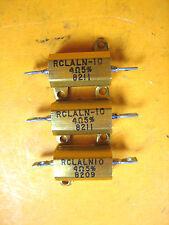 Aluminum -  RCLALN-10 -  Encased Resistor, 4 OHM 5% (Lot of 3)