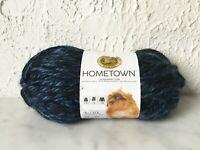 Hometown Lion Brand Super Bulky Acrylic Yarn - 1 Skein Color Milwaukee Midnight