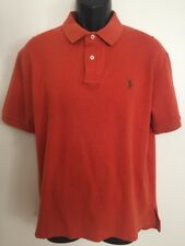 Polo Ralph Lauren Orange Short Sleeve Polo Shirt Men's Size L