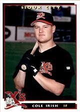 1996 Sioux City Explorers #8 Cole Irish Plainview Minnesota MN Baseball Card