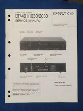 KENWOOD DP-491 DP-1030 DP-2030 SERVICE MANUAL ORIGINAL FACTORY ISSUE GOOD COND