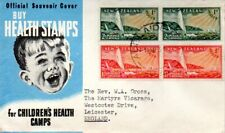 New Zealand 1951 Health pair x 2 on FDC with typed address