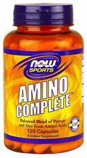 Now Foods Sports AMINO COMPLETE 120 caps - Energy Boost Muscle Growth Endurance