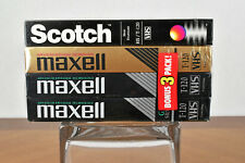 Four Brand New 120 min VHS Tapes Scotch HS, Maxell HGX-Gold, Maxell GX-Silver