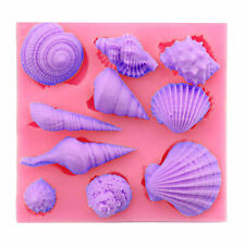 Creative Silicone Fondant 3D Sea Shell Conch DIY Mold Cake Chocolate Baking Tool