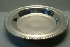 WM ROGERS Footed Silverplated Serving/Fruit Bowl 11""