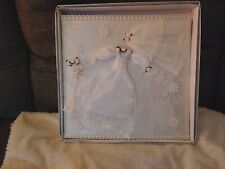 Vtge Wedding Photo Album-Fabric Covered with Miniature Wedding dress veil bouque