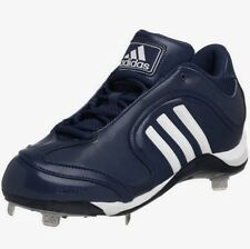Men's Adidas Excelsior 5 Low Metal Spikes Baseball Cleats Navy Blue Size 16