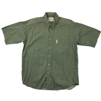 Columbia Sportswear Company Mens Button Up Short Sleeve Green Shirt Size Large