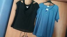 L@@K TWINPACK NWT SIZE 22 DIAMONTE FRONTED TOP & COLD SHOULDER TUNIC TOP BUNDLE