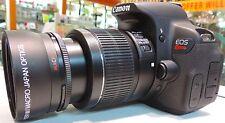 Wide Angle Macro Lens For Canon Eos Digital Rebel t2i xt t3 t3i t4 xt w/18-55 vx
