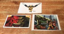 The Incredible Hulk and Wolverine Marvel Comic Super Hero Laminated Cards