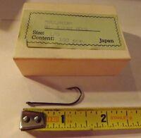 Full Box of 100 Mustad Round Fishing Hooks 92264 Nickel plated size 6