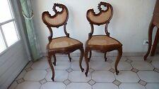 1 paire chaises d'apparat ancienne coquille pour décoration objet de collection