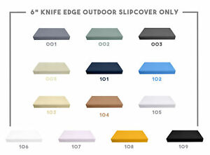 """6"""" Thickness KNIFE EDGE Outdoor Daybed Mattress Fitted Sheet Slip Cover Only"""