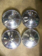 """1972 73 74 75 76 PLYMOUTH DUSTER VALIANT HUBCAPS WHEEL COVERS 14"""" OEM"""