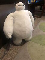 "BIG 18"" Official Disney, White Big Hero 6 Baymax Robot Plush Soft Stuffed Toy."
