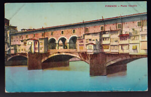 FOREIGN Florence Italy Firenze Ponte Vecchio Postcard