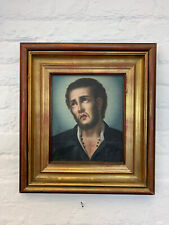 Vintage Italian Framed Oil Painting Male Portrait Religous