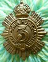 VICTORIAN 3rd Lanarkshire Rifle Volunteers Cap Badge BRASS 2 Lugs Genuine