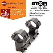 1 pezzi montaggio MIRINO PER FUCILE/30mm 9.5-11mm di alto profilo Anelli mirino a coda di rondine ferroviario