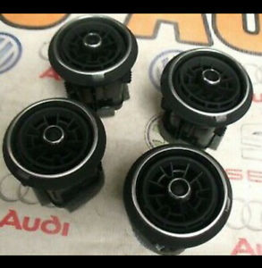 4X GENUINE AUDI A3, S3, RS3, 8V AIR VENTS BLACK*