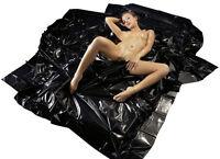 Lack PVC Bettlaken 200 x 230 cm schwarz abwaschbar
